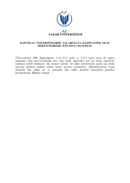 T.C. YAŞAR ÜNİVERSİTESİ