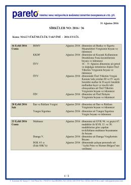 sırk-16-36 2016 yılı eylül ayı malı yukumluluk takvımı