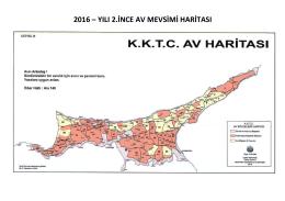 2016 – yılı 2.ince av mevsimi haritası