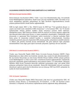 IMO komiteleri ve alt komiteleri tanıtım metinleri