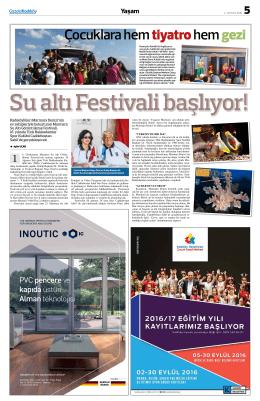 Çocuklara hemtiyatrohemgezi Su altı Festivali başlıyor!