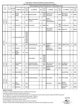 eylül 2016 sorumluluk sınav programı