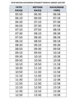 05:50 06:30 06:58 06:10 06:50 07:18 06:30 07:10 07:38 06:50 07:30