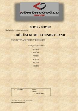 döküm kumu/ foundry sand