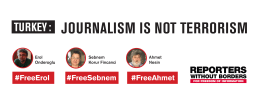 JOURNALISM IS NOT TERRORISM #FreeErol #FreeAhmet