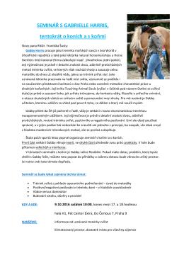 PROPOZICE GABBY HARRIS koně PDF