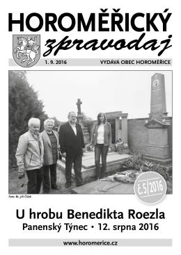 č. 5/ 2016 - Obec Horoměřice