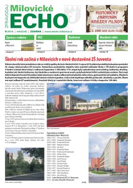 Milovické echo 9/2016