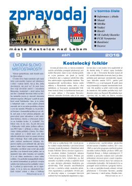 Zpravodaj září 2016 - Kostelec nad Labem