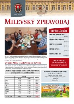 Využití MHD v Milevsku se zvýšilo
