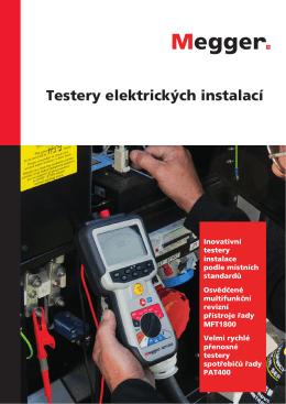 Testery elektrických instalací - Megger