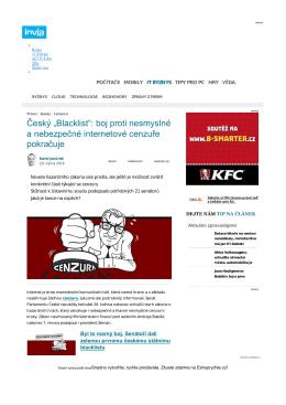 """Český """"Blacklist"""": boj proti nesmyslné a"""