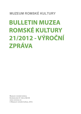 21/2012 - Muzeum romské kultury