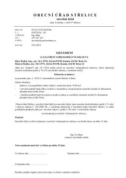 STAV/3532/2016/Ba ozn. o uzavření VPS