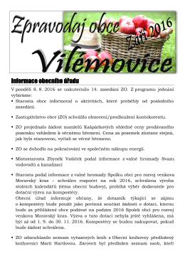 Září 2016 - Vilémovice