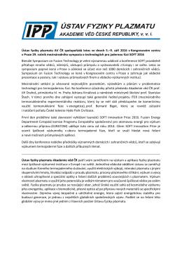 Konference SOFT 2016 - Akademie věd České republiky