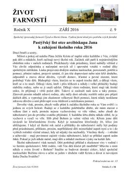 život farností - Farnost Újezd u Valašských Klobouk