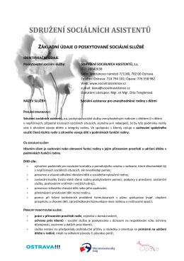 zde - Sdružení sociálních asistentů Ostrava