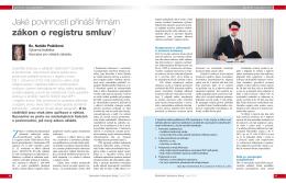 Jaké povinnosti přináší firmám zákon o registru smluv?