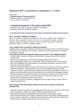1. Doplnění kapitoly 3 Charakteristika ŠVP