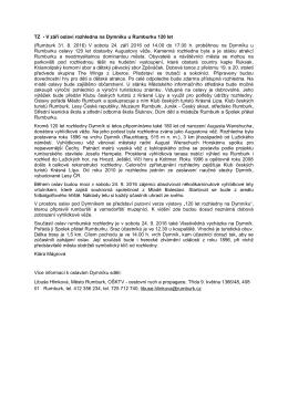 TZ - V září oslaví rozhledna na Dymníku u Rumburku 120 let