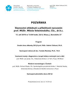 1.9.2016 Pozvánka narozeniny prof. Vel. finál