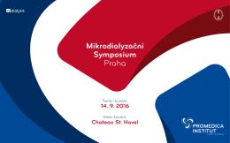 Mikrodialyzační Symposium Praha