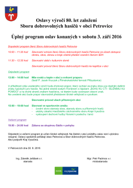 Program 3.9.2016 - úplný