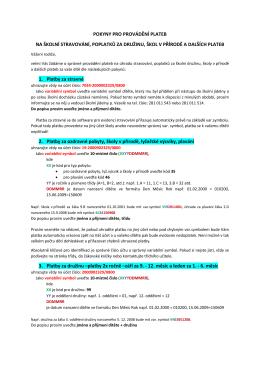 Pokyny pro provádění plateb 2016/2017
