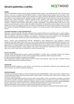 Záruční podmínky a údržba - wpc