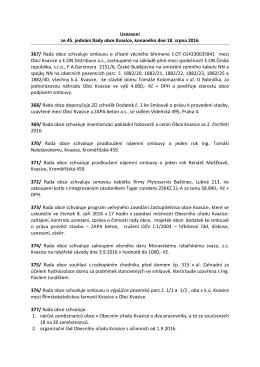Usnesení ze 45. jednání Rady obce Kvasice, konaného dne 18