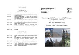 Předběžný program... - Akademie věd České republiky