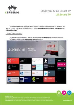 Sledovani.tv na Smart TV LG Smart TV