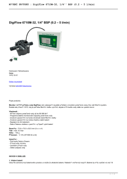 DigiFlow 6710M-32, 1/4`` BSP (0.2 – 5 l/min)