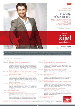 Program konference Incoming města Třebíče