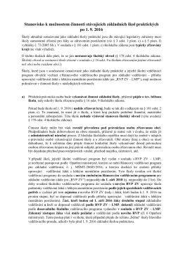 Základní škola praktická po 1.9.2016