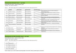 (bakalářských) zkoušek ÚISK 2. – 6. září 2016