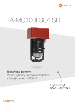 TA-MC100FSE/FSR - IMI Hydronic Engineering