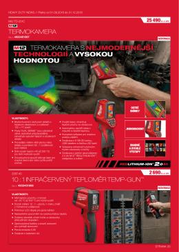 1 infračervený teploměr temp-gun