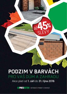 Slevová akce na betonové výrobky až 45%