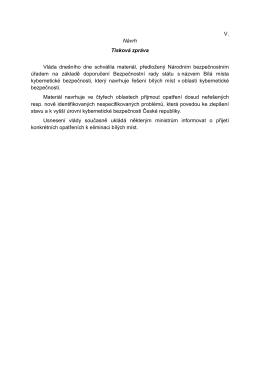 Osnova strategie kybernetické bezpečnosti České republiky