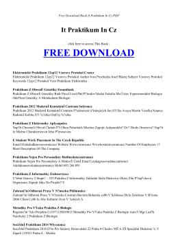 IT PRAKTIKUM IN CZ - Free PDF Books