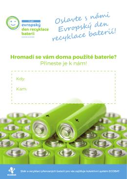 Oslavte s námi Evropský den recyklace baterií!