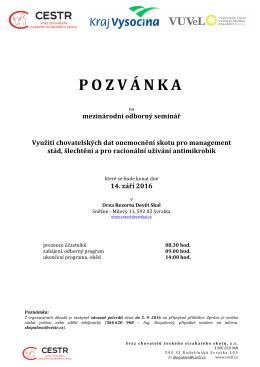 pozvánka - Svaz chovatelů českého strakatého skotu
