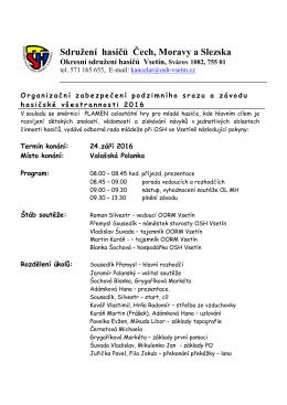 OZ ZVH 2016 - Okresní sdružení hasičů Vsetín