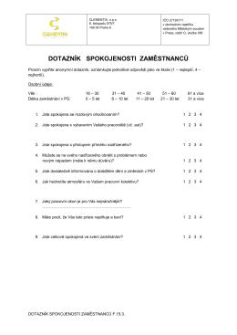 dotazník spokojenosti zaměstnanců