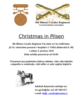 Christmas in Pilsen - 9th Illinois Cavalry Regiment