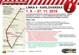 linka 4 - karlovarská