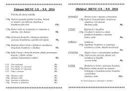 Polední menu - Hotel Trinity