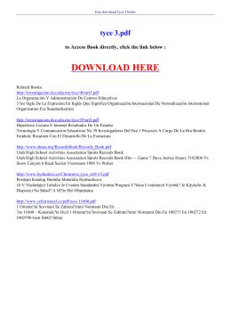 TYCE 3 PDF